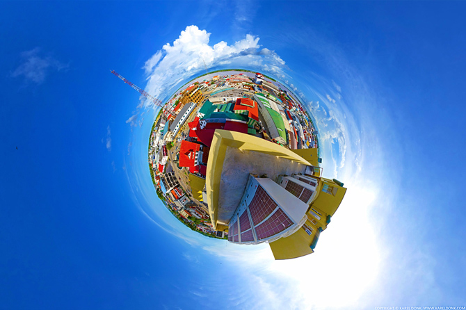 Planet Paramaribo as seen from the Wyndham Garden Hotel